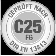 Prüfsiegel C25 F6