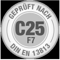 Prüfsiegel C25 F7