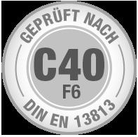 Prüfsiegel C40 F6