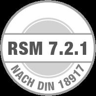 Prüfsiegel RSM 7.2.1