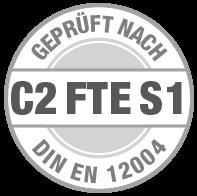 Prüfsiegel C2 FTE S1