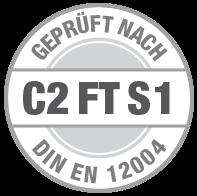 Prüfsiegel C2 FT S1