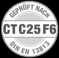 Prüfsiegel CT C25 F6