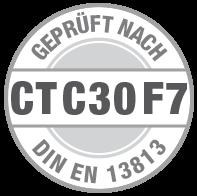 Prüfsiegel CT C30 F7